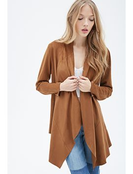 collarless-faux-suede-jacket by forever-21