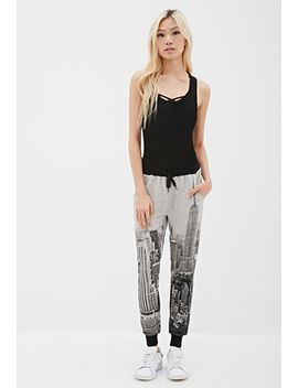 new-york-print-sweatpants by forever-21