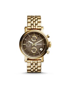 original-boyfriend-chronograph-gold-tone-stainless-steel-watch by fossil