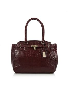 j-by-jasper-conran---designer-wine-mock-croc-leather-belted-tote-bag by j-by-jasper-conran