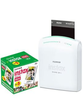 fujifilm-instax-share-smartphone-portable-printer-sp-1-with-fujifilm-instax-mini-instant-film,-10-sheets-(5-pack-=-50-sheets) by fujifilm