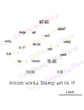 planner-stamps---action-words-(hand-drawn)---limited-edition,-last-ones-ever by tinystampsbigplans
