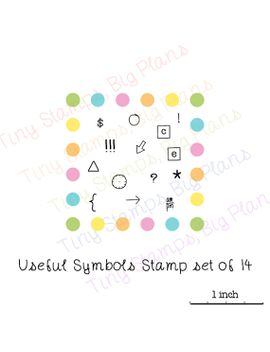 planner-stamps---useful-symbols---icons---tiny-clear-stamp-set-for-your-planner-or-diary,-original-design by tinystampsbigplans