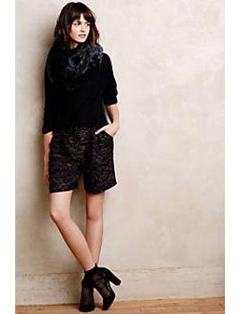 cuffed-tweed-shorts by anthropologie