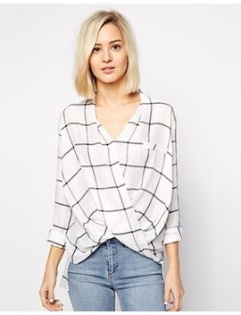 river-island-casual-wrap-blouse-in-check by river-island