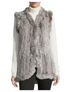 ruffled-rabbit-fur-vest,-light-gray_silver by love-token