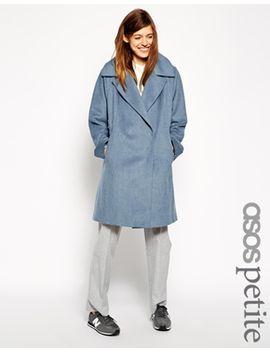 asos-petite-trapeze-coat-in-brushed-wool by asos-petite