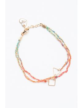 triangle-and-square-chain-bracelet by brandy-melville