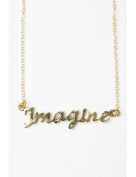 gold-imagine-necklace by brandy-melville