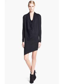 cowl-drape-neck-wool-dress by helmut-lang