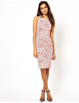 club-l-feather-print-midi-dress by midi-dress