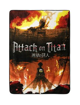 attack-on-titan-fire-plush-throw by hot-topic