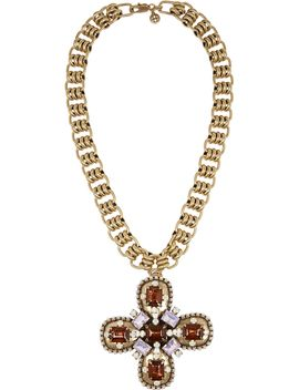 posey-gold-tone-crystal-necklace by tory-burch