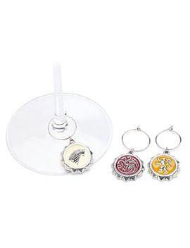 game-of-thrones-house-sigil-wine-charms by think-geek