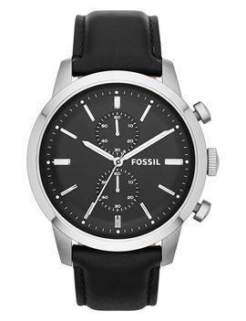 townsman-chronograph-leather-strap-watch,-48mm by fossil