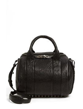 rockie---black-nickel-leather-crossbody-satchel by alexander-wang