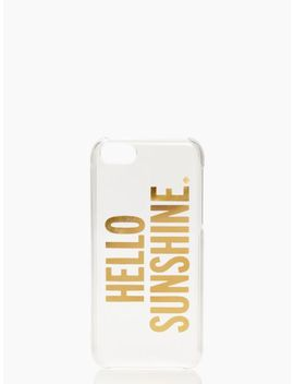 hello-sunshine-iphone-5c-case by kate-spade