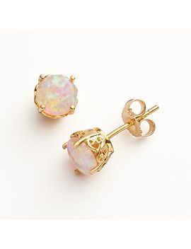 10k-gold-over-silver-lab-created-pink-opal-stud-earrings by kohls