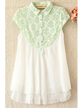 sweet-floral-detailed-lace-yoke-shirt by oasap