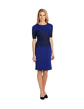 antonio-melani-hedy-embroidered-ponte-sheath-dress by generic