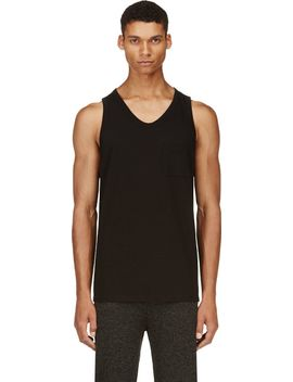 black-pocket-tank-top by t-by-alexander-wang