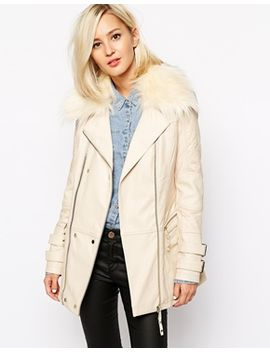 river-island-longline-biker-jacket-with-faux-fur-collar by river-island