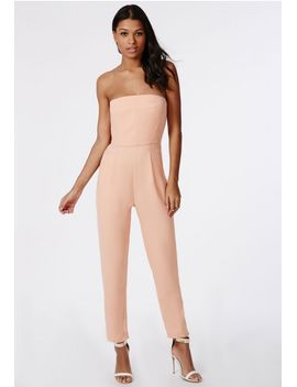 tailored-bandeau-jumpsuit-nude by missguided