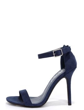 lulus-elsi-navy-blue-single-strap-heels by lulus