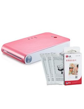 lg-popo-pocket-photo-2-pd239-mini-portable-mobile-photo-printer-+30-zink-paper-sheet-for-android-&-ios,-pink by lg