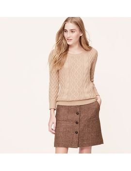 button-front-tweed-skirt by loft