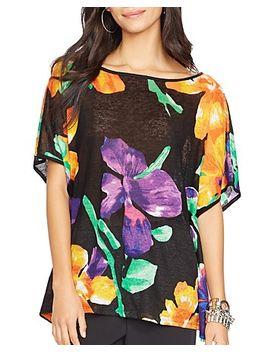 floral-print-poncho-top by lauren-ralph-lauren