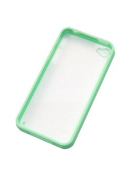 zehui-new-green-back-clear-hard-coating-cover-case-w_colored-bumper-for-iphone-4g-4s-4gs by zehui