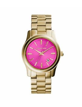 runway-pink-dial-gold-tone-watch by michael-kors