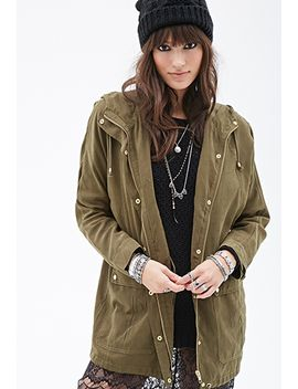 washed-hooded-utility-jacket by forever-21
