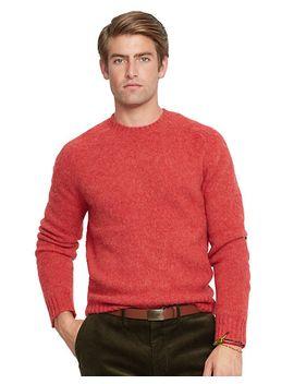shetland-wool-crewneck-sweater by ralph-lauren