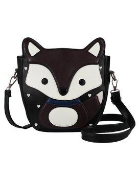 ecosusi-women-cute-fox-design-soft-pu-leather-crossbody-bag-hobo-shoulder-bag-satchel-(black-&-dark-brown) by ecosusi