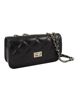 patzino-fashion-collection,-quilted-pu-leather-womens-_-girls-cross-body-purse-small-handbag-(black) by patzino