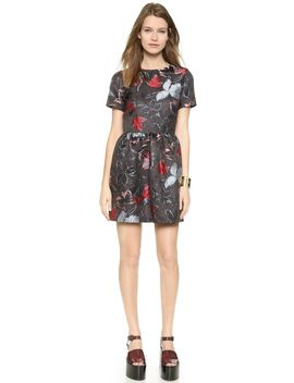 cap-sleeve-floral-dress by suno