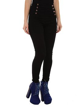 cello-black-sailor-high-waisted-skinny-jeans by hot-topic