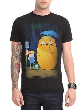 adventure-time-in-the-rain-t-shirt by hot-topic