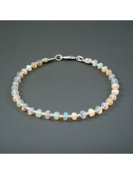 opal-bracelet,-small-fiery-ethiopian-fire-opals-and-sterling-silver-bracelet,-tennis-bracelet,-opal-jewelry by jewelrybyjacoby