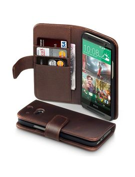 terrapin-leather-wallet-case-with-card-slots-&-bill-compartment-for-htc-one-m8-(genuine-leather---brown) by terrapin