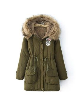 promithi-womens-winter-fur-collar-padded-hooded-coat-jacket by promithi