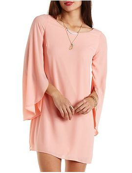 tulip-bell-sleeve-shift-dress by charlotte-russe