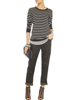 the-outnetthe-fling-mid-rise-coated-boyfriend-jeans by current_elliott