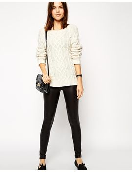 asos-leather-look-leggings by asos-collection