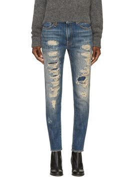 blue-shredded-slouch-skinny-jeans by r13