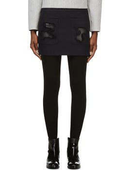 navy-leather-patch-mini-skirt by alexander-wang