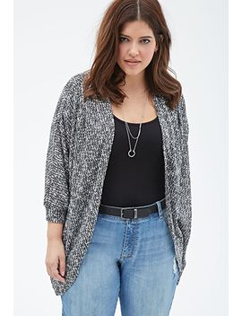marled-knit-dolman-cardigan by forever-21