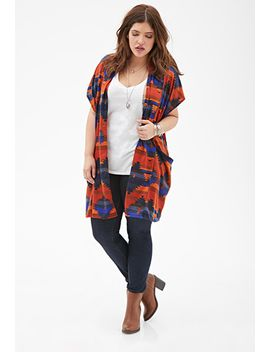 southwestern-print-open-front-cardigan by forever-21